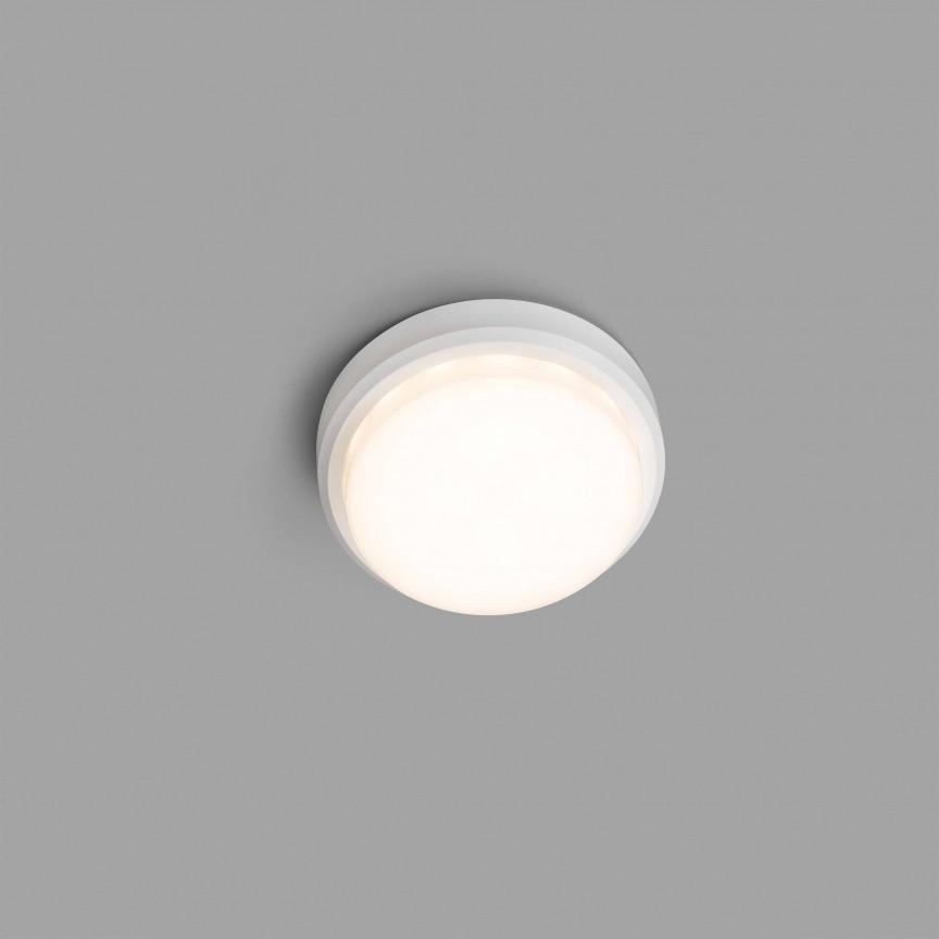 Aplica LED de perete / tavan pentru exterior IP65 TOM alba, Plafoniere exterior⭐ lampi de iluminat exterior rustice, clasice, moderne pentru terasa casa.✅Design cu LED decorativ 2021!❤️Promotii online❗ Magazin➽www.evalight.ro. Alege oferte la corpuri de iluminat exterior rezistente la apa, tip aplice si spoturi aplicate pt tavan sau perete, solare cu senzori de miscare, metalice, abajur din sticla cu decor ornamental, ieftine si de lux, calitate deosebita la cel mai bun pret. a