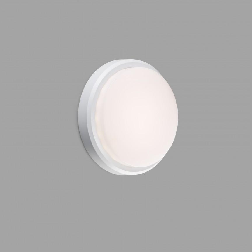 Aplica LED de perete / tavan pentru exterior IP65 TOM XL alba , Plafoniere exterior⭐ lampi de iluminat exterior rustice, clasice, moderne pentru terasa casa.✅Design cu LED decorativ 2021!❤️Promotii online❗ Magazin➽www.evalight.ro. Alege oferte la corpuri de iluminat exterior rezistente la apa, tip aplice si spoturi aplicate pt tavan sau perete, solare cu senzori de miscare, metalice, abajur din sticla cu decor ornamental, ieftine si de lux, calitate deosebita la cel mai bun pret. a