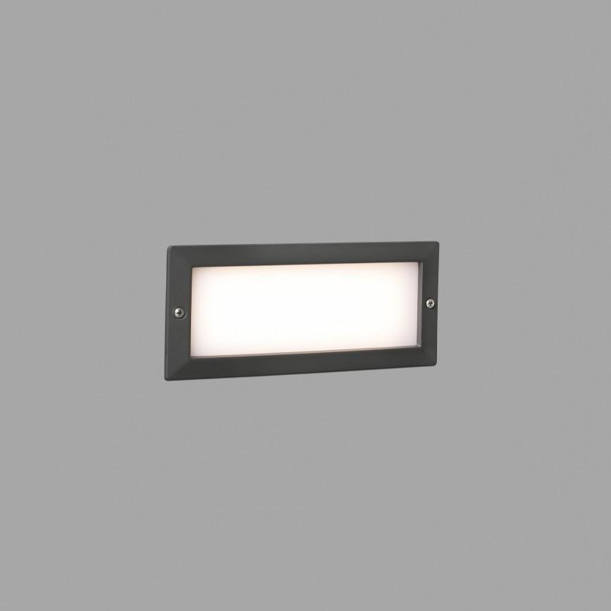 Spot LED incastrabil de exterior IP54 iluminat ambiental STRIPE gri , Spoturi incastrate exterior , LED⭐ modele de tip spot potrivite pentru iluminare terasa, gradina, curte, casa. ✅ Design actual 2020!❤️Promotii lampi incastrate de exterior❗ ➽ www.evalight.ro. Alege oferte la corpuri de iluminat exterior incastrat rezistente la apa, directionabile cu lumina ambientala reglabila, montate in perete, tavan, ingropate in pavaj si pardoseala si pamant, scari si trepte beton, forme (rotunde si patrate,), ieftine de calitate la cel mai bun pret. a