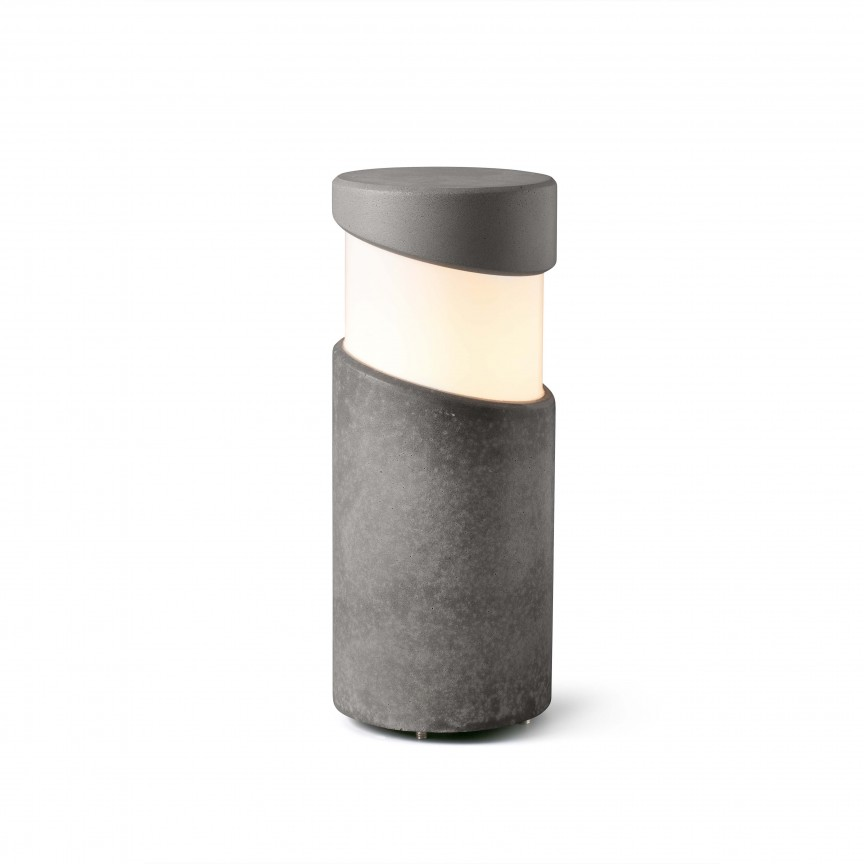 Mini Stalp iluminat exterior design modern IP65 BLOCK, Stalpi de iluminat exterior mici si medii ,  a