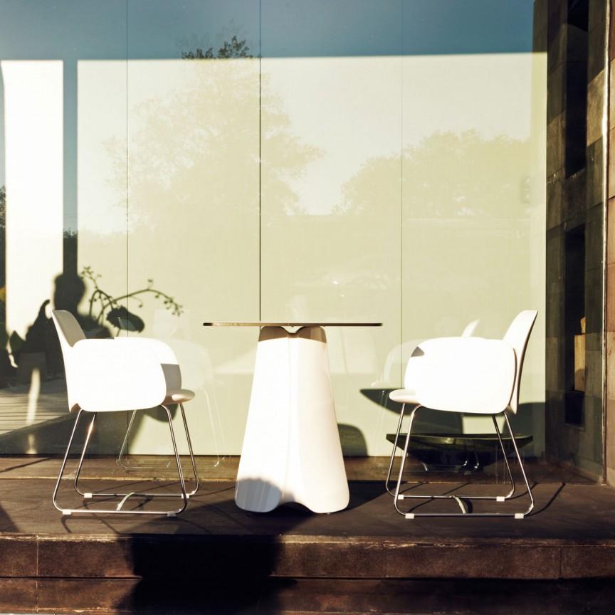 Masa de exterior / interior design modern premium PEZZETTINA TABLE 70x70x73 56012 Vondom, Mobilier terasa si gradina,  a