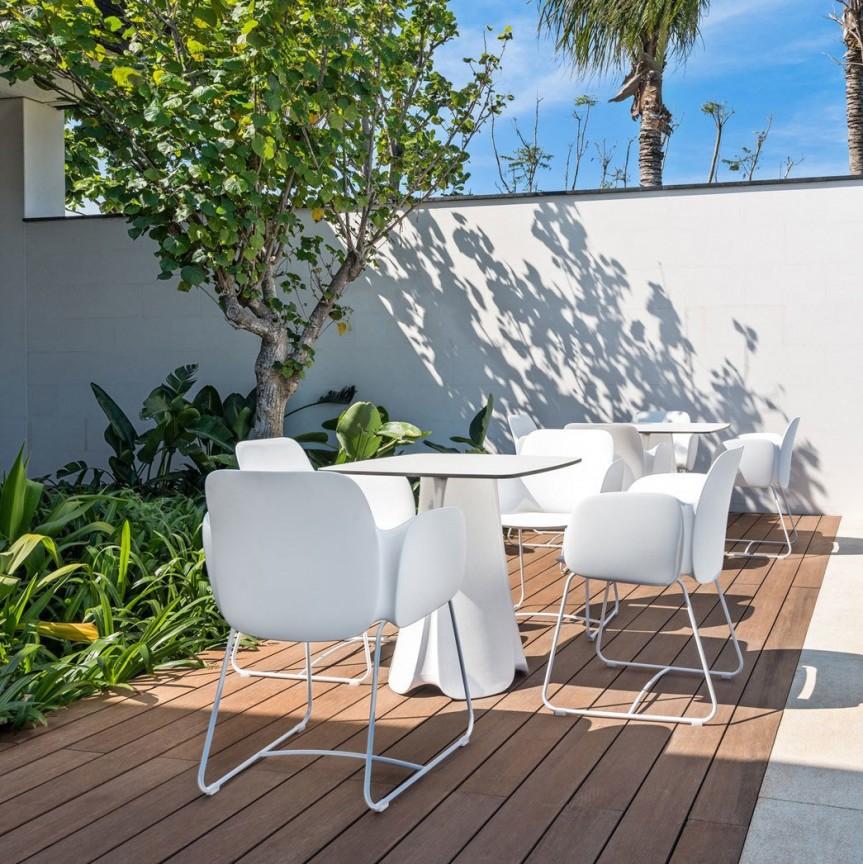 Masa de exterior / interior design modern premium PEZZETTINA TABLE 90x90x73 56014 Vondom, Mobilier terasa si gradina,  a