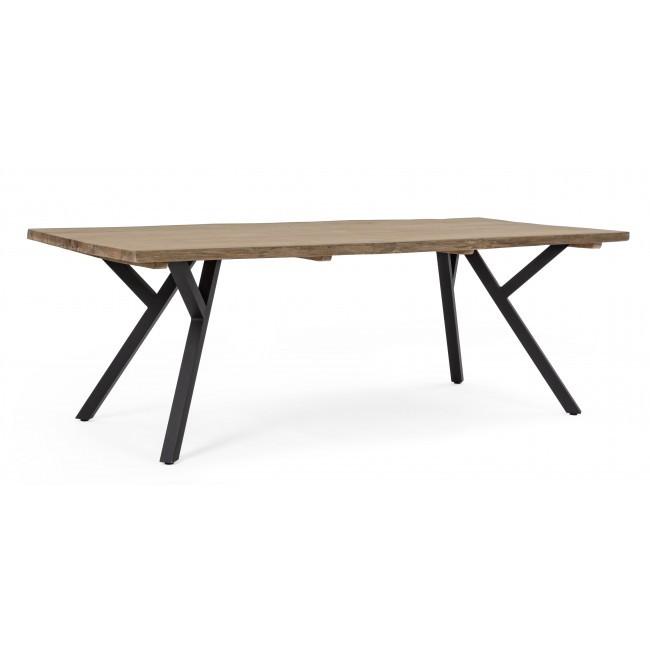 Masa dining design modern COLEMAN 220X100cm, negru 0804455 BZ, Mobilier terasa si gradina,  a