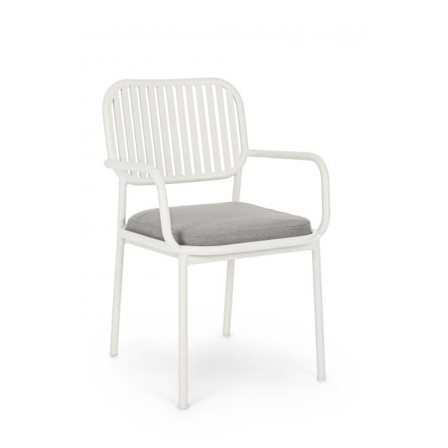 Set 4 scaune cu brate design modern RODRIGO, alb 0662805 BZ, Seturi scaune dining, scaune HoReCa,  a