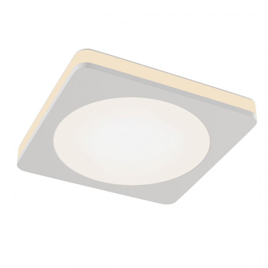 Spot LED incastrabil tavan fals Phanton alb, 8x8cm MY-DL303-L7W, Spoturi incastrate - tavan fals / perete,  a