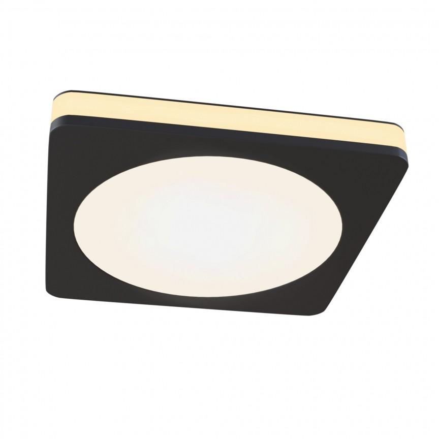 Spot LED incastrabil tavan fals Phanton negru, 8x8cm MY-DL2001-L7B , Spoturi incastrate - tavan fals / perete,  a