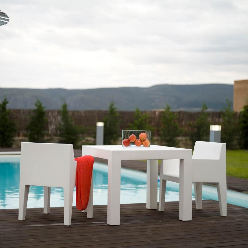 Masa de exterior / interior design modern premium JUT TABLE 90x90cm 44410 Vondom, Mobilier terasa si gradina,  a