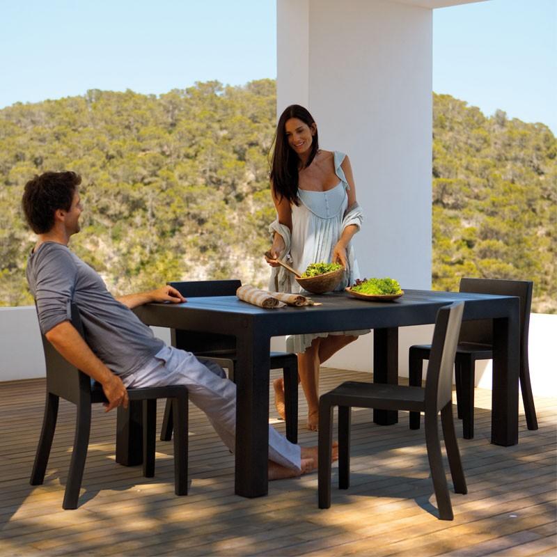 Masa dining de exterior / interior design modern premium JUT TABLE 180x90cm 44406 Vondom, Mobilier terasa si gradina,  a