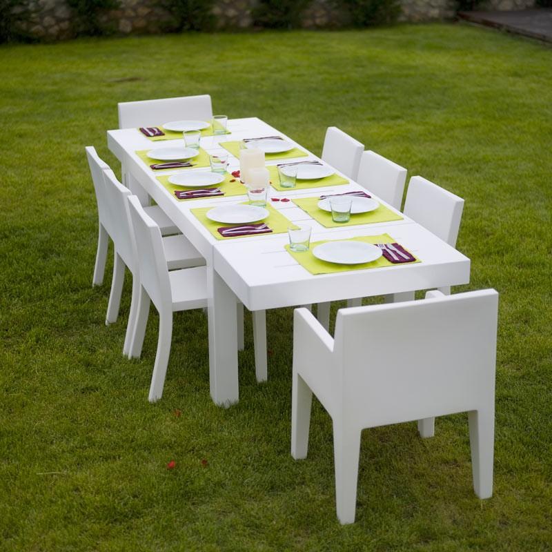 Masa dining de exterior / interior design modern premium JUT TABLE 280x90cm 44407 Vondom, Mobilier terasa si gradina,  a