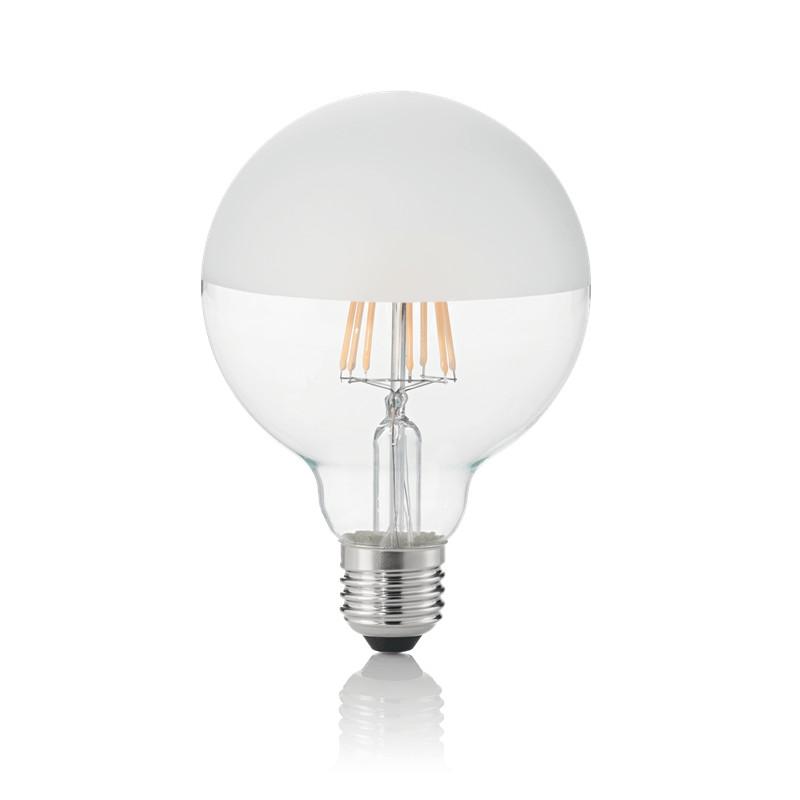 Bec LED E27 08W GLOBO D095 SATINATA 3000K 157597 IDL, Becuri E27,  a
