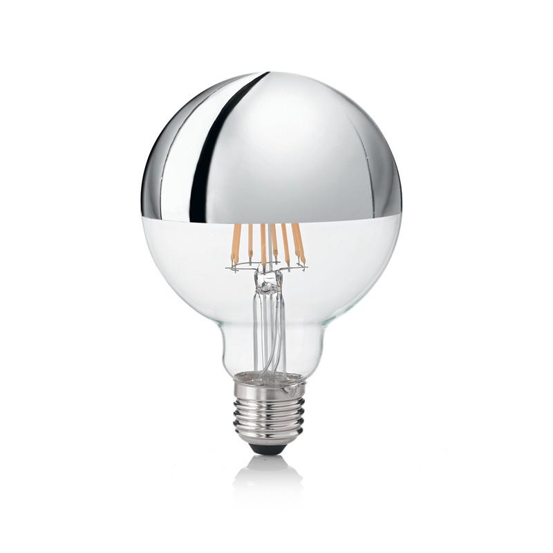 Bec LED E27 08W GLOBO D095 CROMO 3000K 135526 IDL, Becuri E27,  a