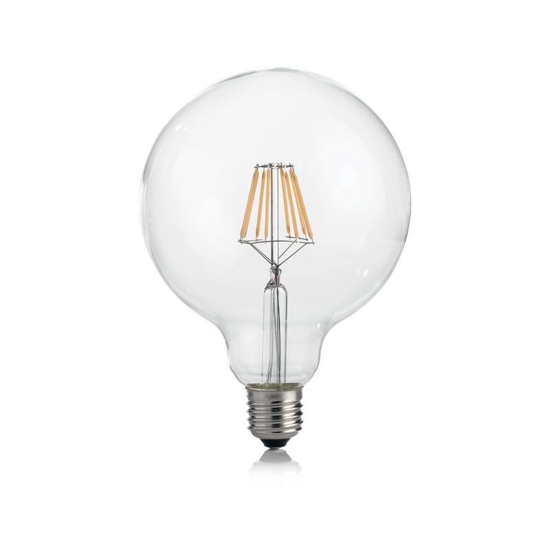 Bec LED dimabil E27 08W GLOBO D125 TRASP 3000K 188959 IDL, Becuri E27,  a