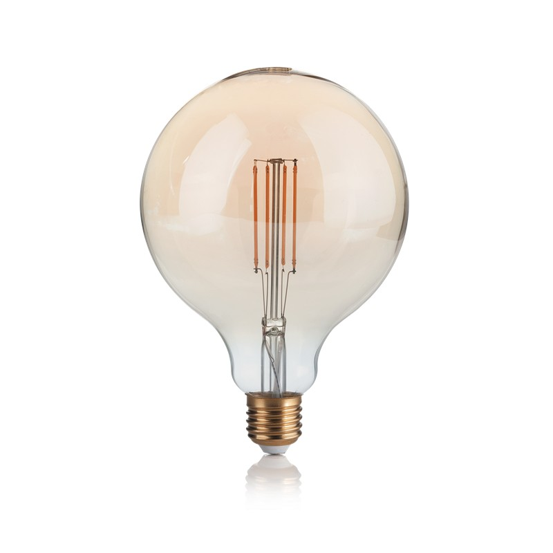 Bec LED dimabil E27 VINTAGE 04W GLOBO D125 AMBRA 2200K 223926 IDL, Becuri E27,  a