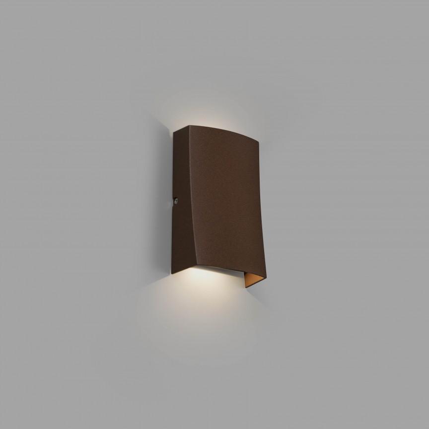 Aplica LED de exterior ambientala design modern decorativ IP54 NAIROBI maro rustic, Aplice de exterior moderne ,  a