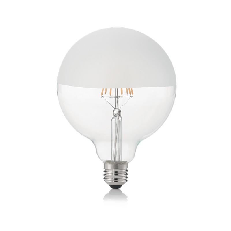 Bec LED E27 08W GLOBO D125 SATINATA 3000K 157580 IDL, Becuri E27,  a