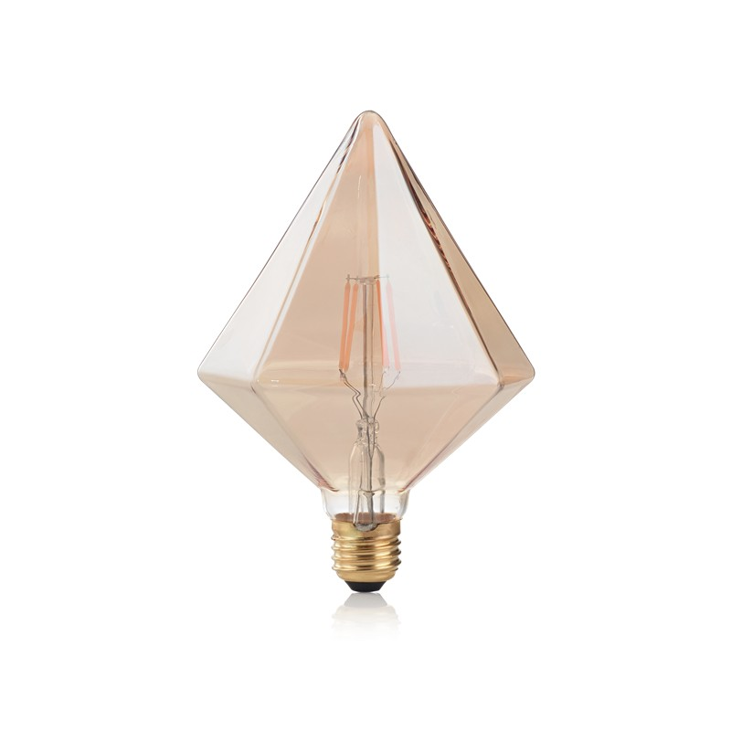 Bec LED E27 VINTAGE 04W PYRAMID AMBRA 2200K 201276 IDL, Becuri E27,  a