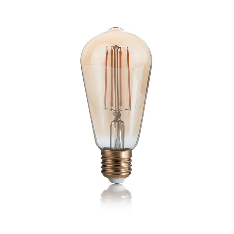 Bec LED dimabil E27 VINTAGE 04W CONO AMBRA 2200K 223919 IDL, Becuri E27,  a