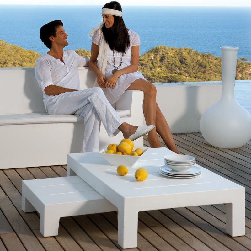 Masuta de cafea exterior / interior design modern premium JUT COFFEE TABLE 44403 Vondom, Mobilier terasa si gradina,  a