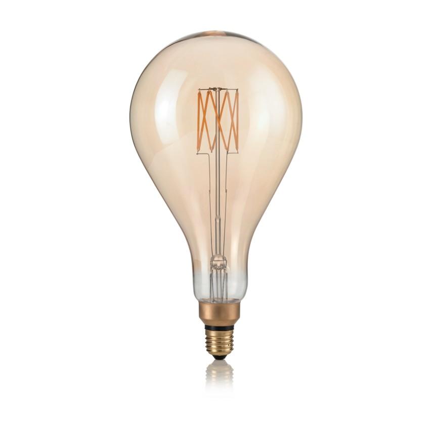 Bec dimabil de dimensiuni mari LED E27 VINTAGE XL 08W GOCCIA AMBRA 2200K 223964 IDL, Becuri E27,  a