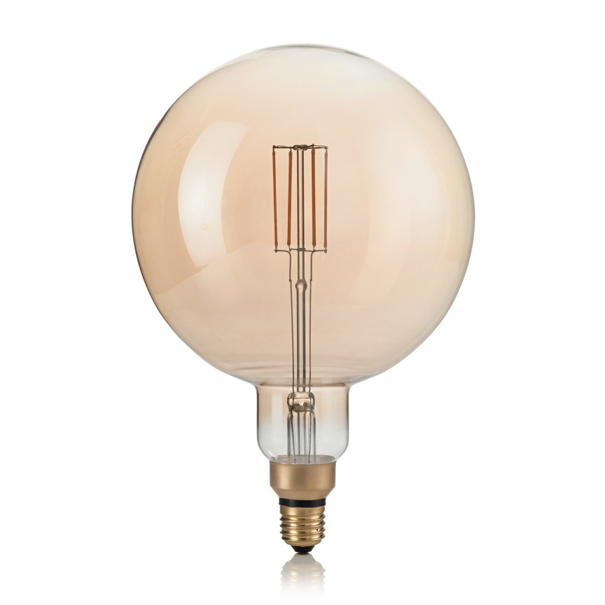 Bec dimabil de dimensiuni mari LED E27 VINTAGE XL 04W AMBRA 2200K 223834 IDL, Becuri E27,  a