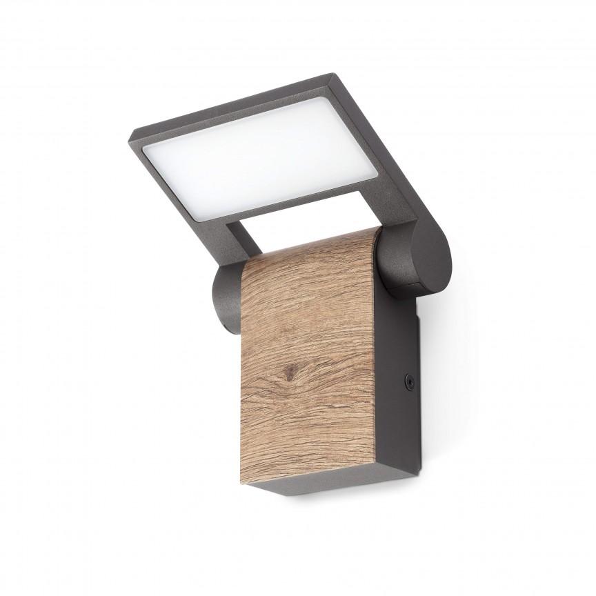 Aplica LED de exterior directionabila IP54 WOOD , Aplice de exterior moderne ,  a
