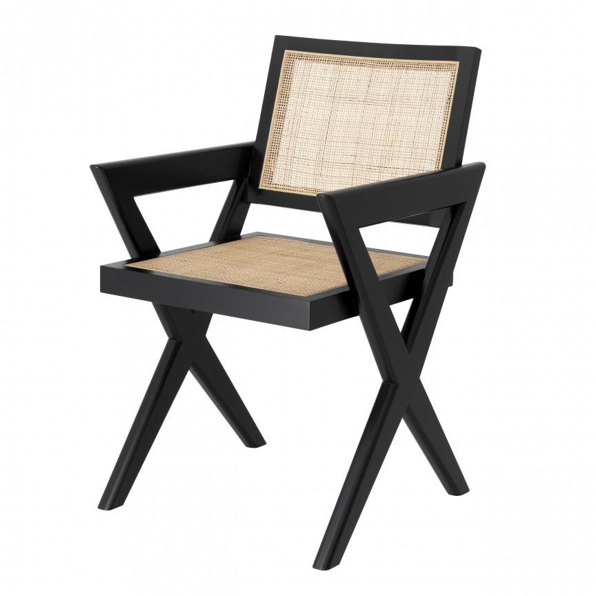 Scaun cu brate design modern Augustin, negru 114615 HZ, Cele mai noi produse 2020 a