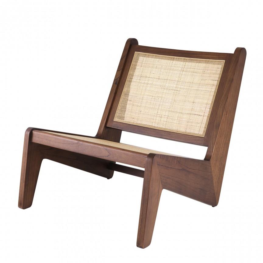 Fotoliu design vintage LUX Aubin, lemn maro 114616 HZ, Cele mai noi produse 2020 a