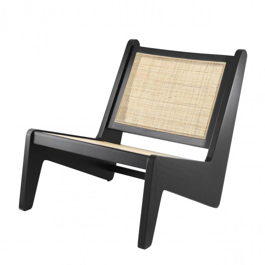 Fotoliu design vintage LUX Aubin, lemn negru 114617 HZ, Cele mai noi produse 2020 a