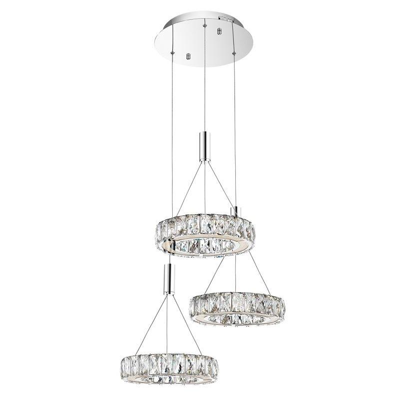 Lustra cu 3 pendule LED design modern Corona NVL-7402401, Cele mai noi produse 2020 a