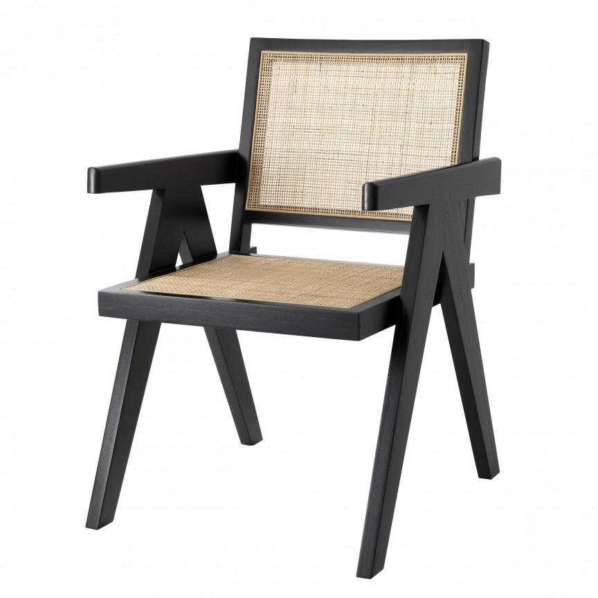 Scaun cu brate design vintage Aristide, negru 114619 HZ, Cele mai noi produse 2020 a