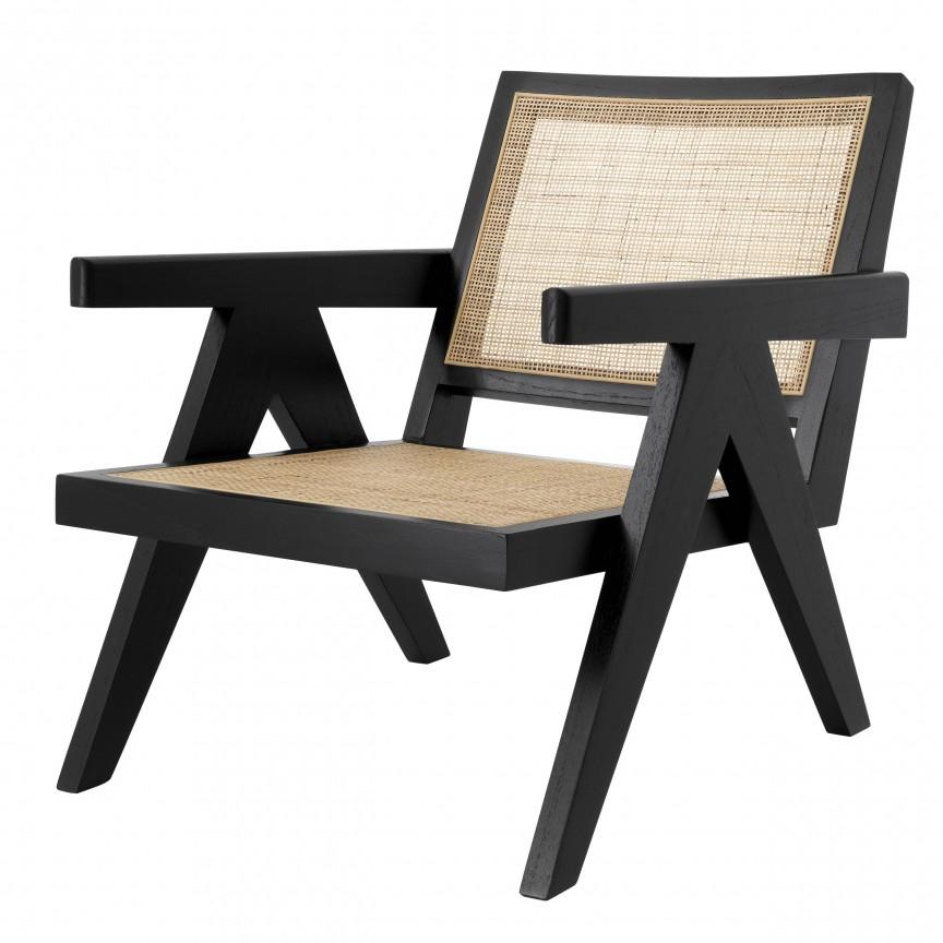 Fotoliu cu brate design vintage Aristide, negru 114621 HZ, Cele mai noi produse 2020 a