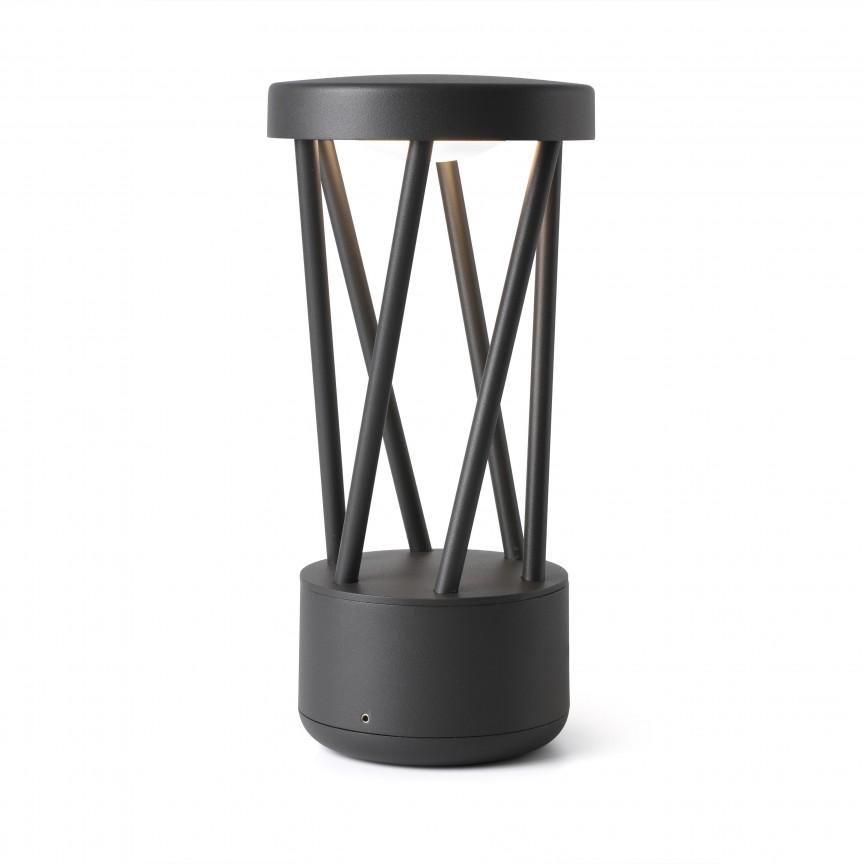 Mini stalp LED de exterior design modern ambiental IP65 TWIST, Stalpi de iluminat exterior mici si medii ,  a