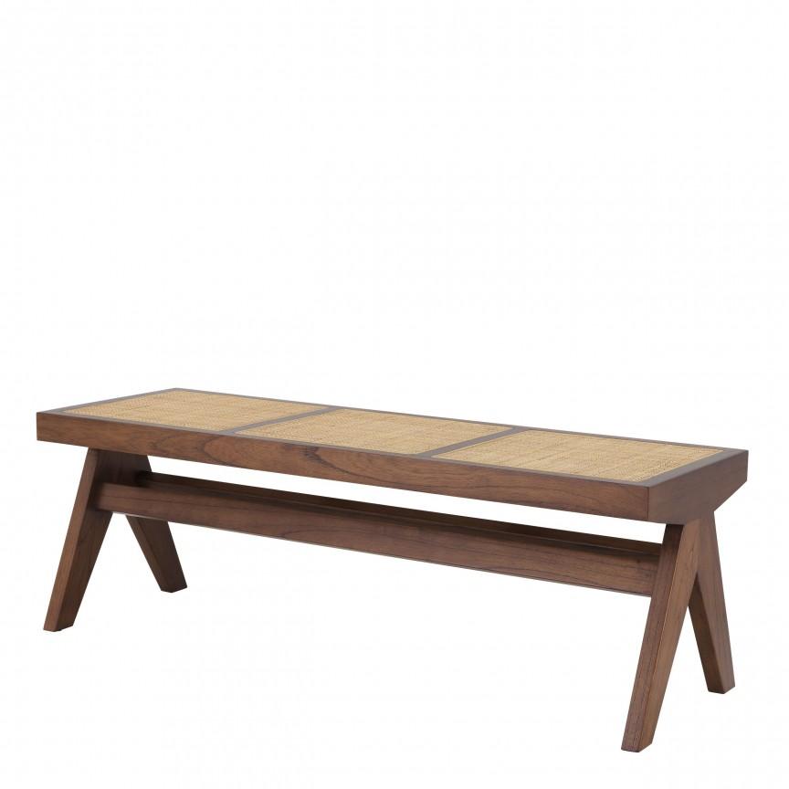 Banca design vintage LUX Arnaud, lemn maro 113480 HZ, Cele mai noi produse 2020 a