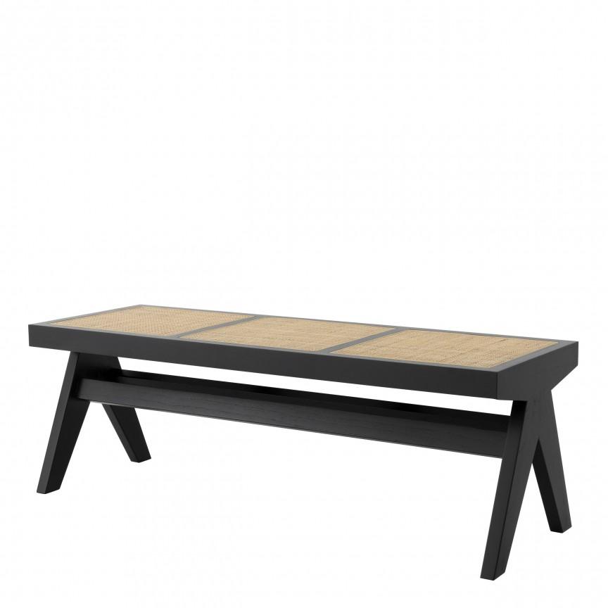 Banca design vintage LUX Arnaud, lemn negru 114160 HZ, Cele mai noi produse 2020 a