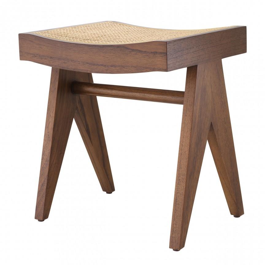 Taburete design vintage LUX Arnaud, lemn maro 113675 HZ, Cele mai noi produse 2020 a