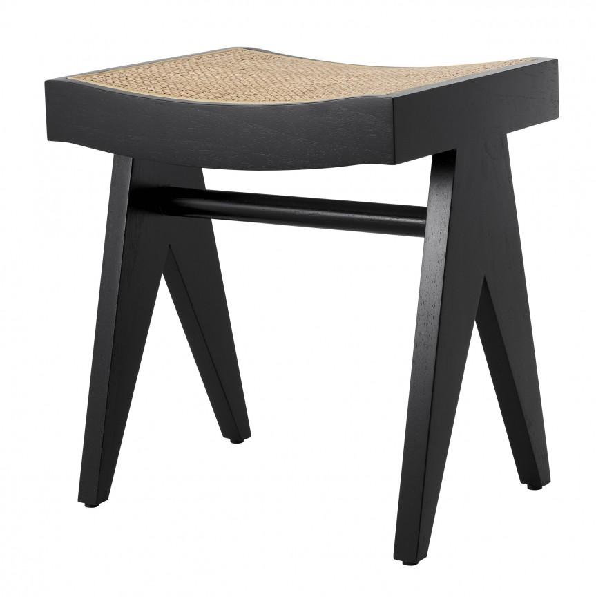 Taburete design vintage LUX Arnaud, lemn negru 114163 HZ, Cele mai noi produse 2020 a