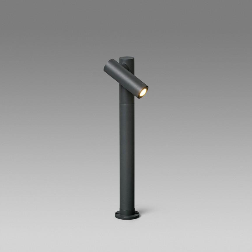 Stalp LED cu proiector directionabil IP65 SPY-2, Stalpi de iluminat exterior mici si medii ,  a