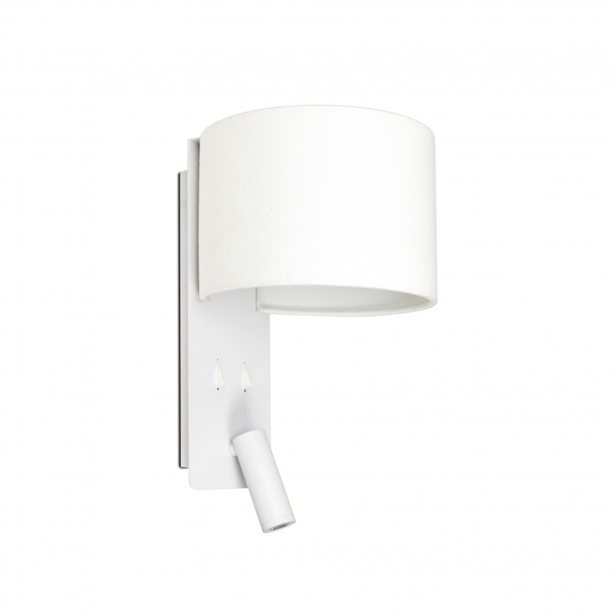 Aplica moderna cu reader LED FOLD White 64304, Aplice de perete LED, moderne⭐ modele potrivite pentru dormitor,living,baie,hol,bucatarie.✅Design premium actual Top 2020!❤️Promotii lampi❗ ➽ www.evalight.ro. Alege oferte la corpuri de iluminat cu LED pt tavan interior, (becuri cu leduri si module LED integrate cu lumina calda, naturala sau rece), ieftine si de lux, calitate deosebita la cel mai bun pret.  a