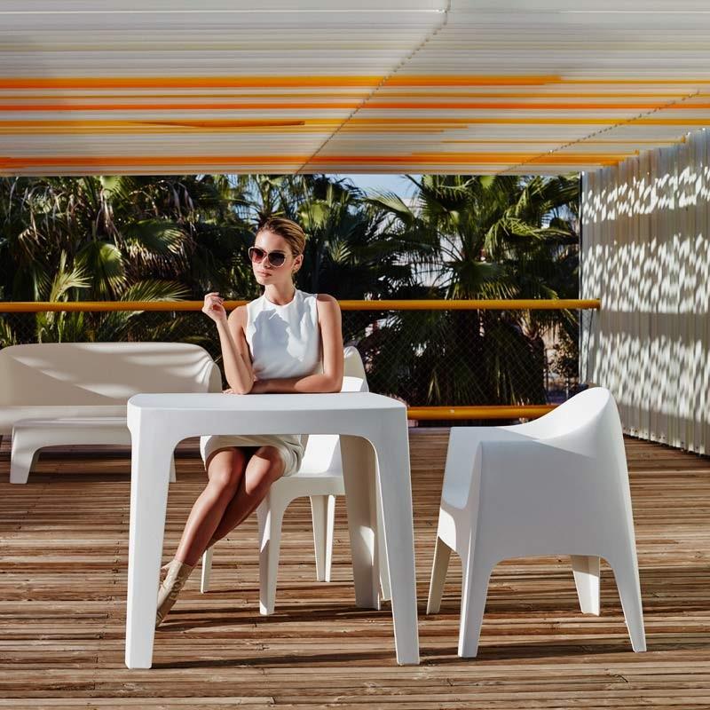 Masa de exterior / interior design modern premium SOLID TABLE 55025 Vondom , Mobilier terasa si gradina,  a
