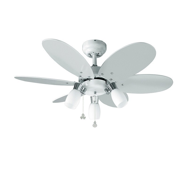 Lustra cu ventilator cu palete reversibile alb / multicolor Tones 072645 SU, Cele mai noi produse 2020 a