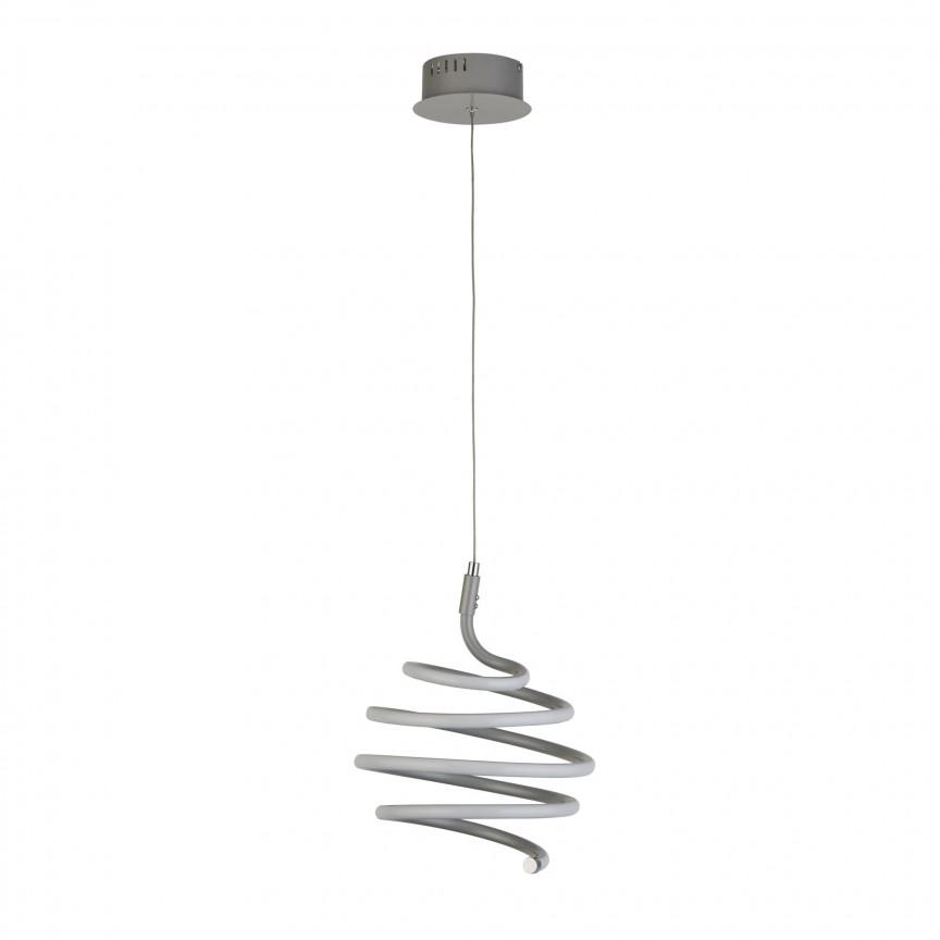 Lustra LED suspendata design modern Swirl 7458GY SRT, Candelabre, Lustre moderne,  a