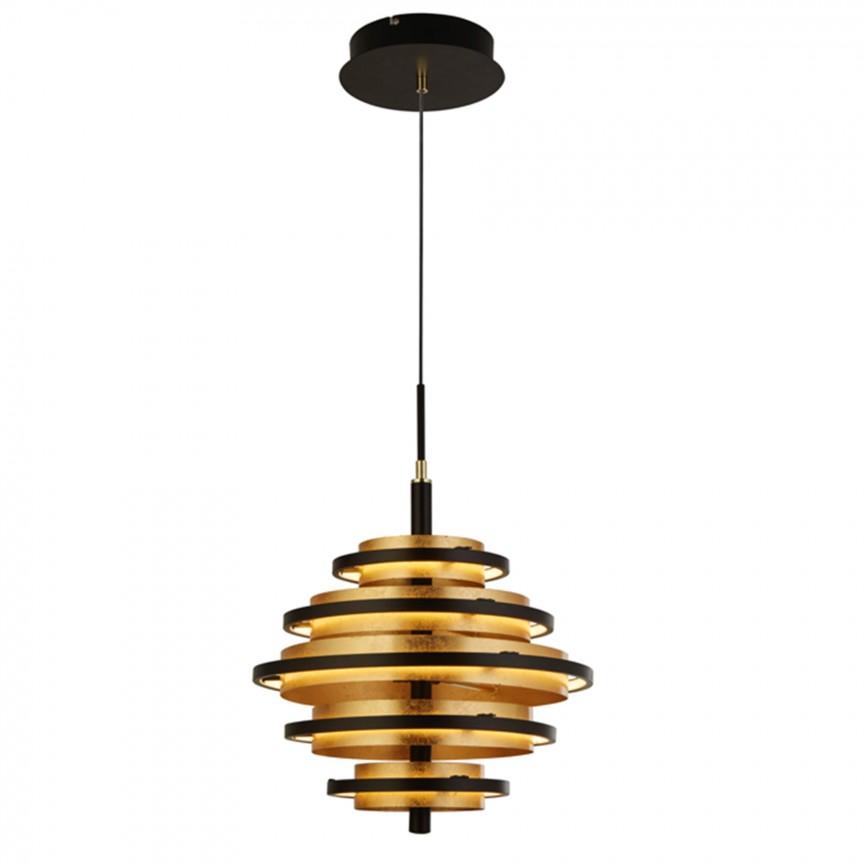 Lustra moderna Hive Black/gold 6375-5BG SRT, Candelabre, Lustre moderne,  a