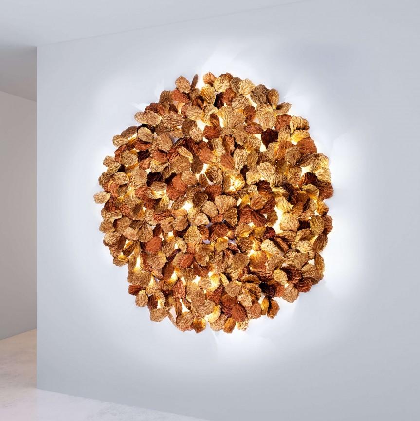 Aplica LED XXL design artistic realizata manual, stil organic Pathleaf 210cm, Aplice de perete LED,  a