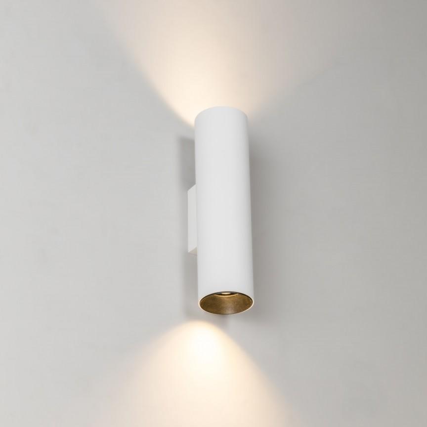 Aplica perete ambientala design modern STAN 2L alba, Aplice de perete simple,  a