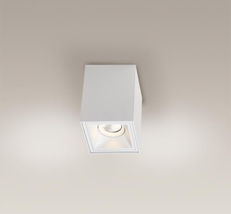 Plafonier, Spot aplicat alb, dim.10x10cm, Led Basic Square C0053 MX, Spoturi LED incastrate, aplicate, Corpuri de iluminat, lustre, aplice a