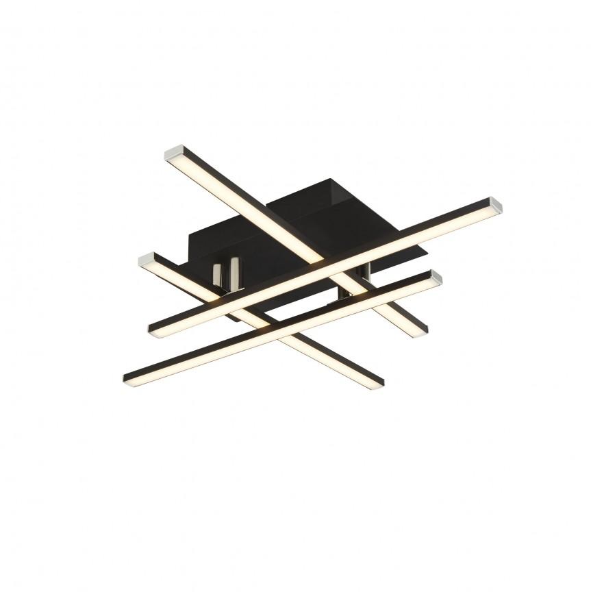 Plafoniera, Lustra LED aplicata design modern Matrix 694-4BK SRT, Lustre moderne aplicate,  a