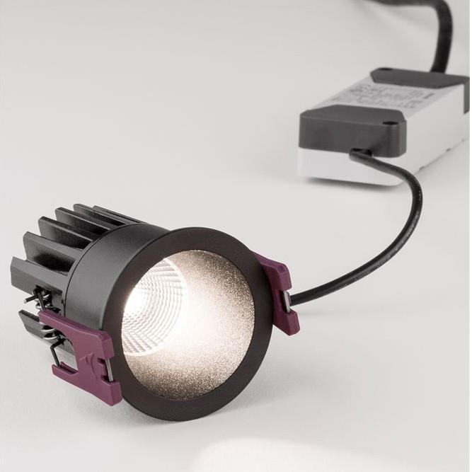 Spot LED incastrabil pentru tavan fals BREE negru NVL-9232112, Spoturi LED incastrate, aplicate,  a