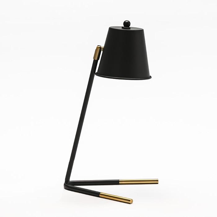 Veioza/ Lampa de masa design elegant Black/Golden 62617/00 TN,  a