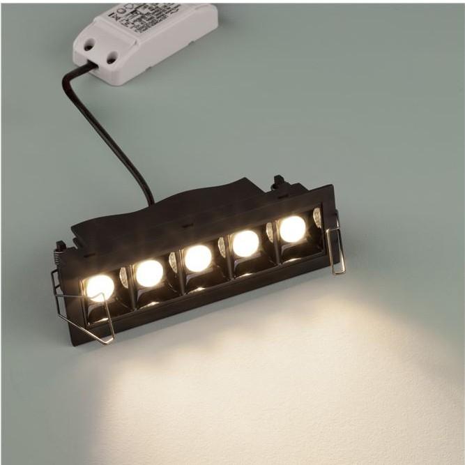 Corp incastrabil tavan fals cu 5 spoturi LED SWAN negru NVL-9232127, Spoturi incastrate - tavan fals / perete,  a