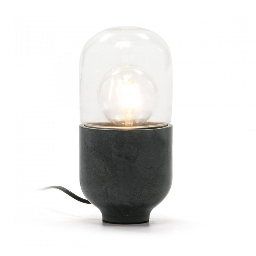 Veioza design minimalist Marble, gri 61802/00 TN, Veioze, Lampi de masa,  a